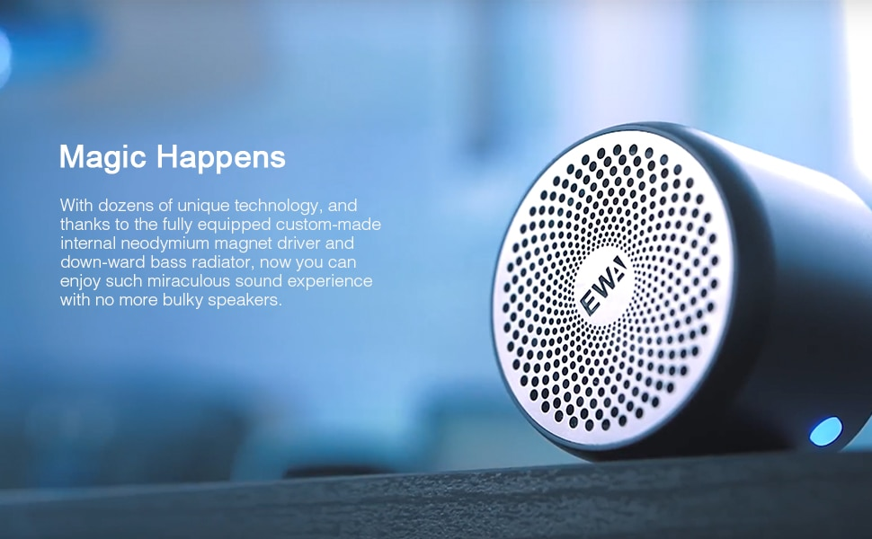 Hfec84d157e1a4c38940cb2db28f7464aT - EWA Bluetooth Speaker IP67 Waterproof Mini Wireless Portable Speakers A106Pro Column with Case Bass Radiator for Outdoors Home
