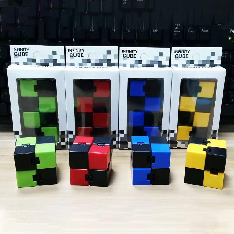 Hffd17ac9651745bc8760764ce02132bb9 - Antistress Infinite Cube Infinity Cube Office Flip Cubic Puzzle Stress Reliever Autism Toys Relax Toy For Adults